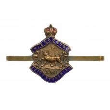 Leicestershire Regiment Brass & Enamel Sweetheart Brooch - Ki
