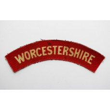 Worcestershire Regiment (WORCESTERSHIRE) WW2 Printed Shoulder Tit