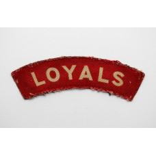 The Loyal Regiment (LOYALS) WW2 Printed Shoulder Title