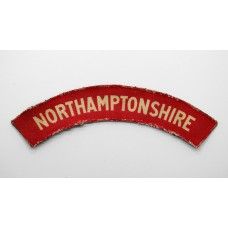 Northamptonshire Regiment (NORTHAMPTONSHIRE) WW2 Printed Shoulder