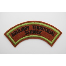 A.T.S. (AUXILIARY TERRITORIAL SERVICE) Cloth Shoulder Title