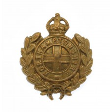 Northamptonshire Regiment Collar Badge - King's Crown