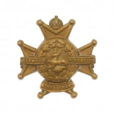 Notts & Derby Regiment (Sherwood Foresters) Collar Badge
