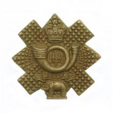 Highland Light Infantry (H.L.I.) Collar Badge - Queen's Crown