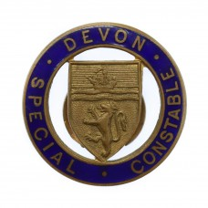 Devon Special Constable Enamelled Lapel Badge