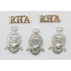 Royal Horse Artillery (R.H.A.) Anodised (Staybrite) Badge Set