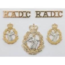 Royal Army Dental Corps (R.A.D.C.) Anodised (Staybrite) Badge Set