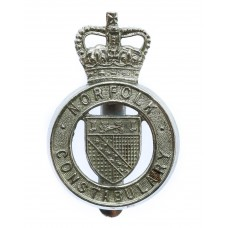 Norfolk Constabulary Cap Badge - Queen's Crown