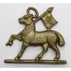 The Queen's (Royal West Surrey) Regiment WW2 Plastic Economy Cap Badge