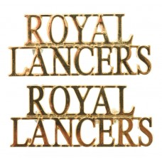 Pair of Royal Lancers (ROYAL/LANCERS) Shoulder Titles
