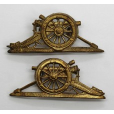 Pair of Royal Artillery Senior N.C.O.s Gun Arm Badges