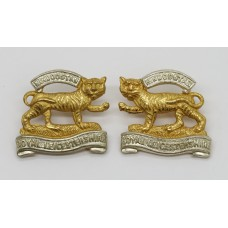 Pair of Royal Leicestershire Regiment Officer's Collar Badges