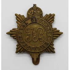 Royal Ordnance Factories WWI Cap Badge