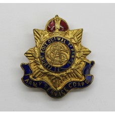 WW1 Army Service Corps (A.S.C.) Enamelled Sweetheart Brooch