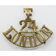 24th Bn. (The Queen's) London Regiment (T/24/LONDON) Shoulder Tit