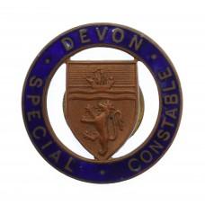 Devon Special Constable Enamelled Cap Badge