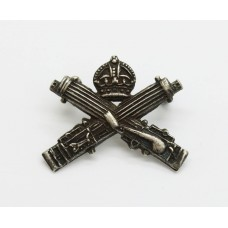 WW1 Guards Machine Gun Regiment Officer's Sterling Silver Collar Badge