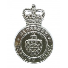 Dewsbury Borough Police Cap Badge - Queen's Crown