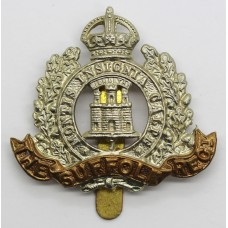Suffolk Regiment Cap Badge - King's Crown