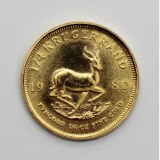 South Africa 1980 1/4oz Krugerrand Gold Coin