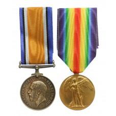 WW1 British War & Victory Medal Pair - Gnr. E. Phillips, Royal Artillery
