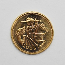 2005 Elizabeth II 22ct Gold Half Sovereign Coin