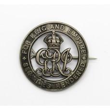 WW1 Silver War Badge (No. 132945) - Pte. J. Thompson, West Riding Regiment