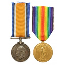 WW1 British War & Victory Medal Pair - Pte. R. Phillipson, 10th Bn. Loyal North Lancashire Regiment - K.I.A. 11/4/17