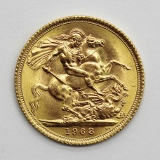 1968 Elizabeth II 22ct Gold Full Sovereign Coin