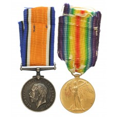 WW1 Prisoner of War British War & Victory Medal Pair - Pte. J