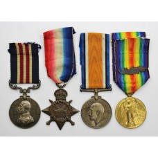 WW1 Military Medal, 1914-15 Star, British War & Victory MID Medal Group - B.Q.M. Sjt. F. Fields, Royal Field Artillery