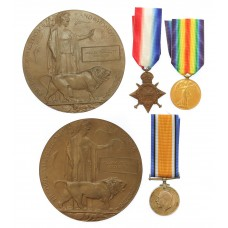 WW1 Family Casualty Medal Group to the Richards Brothers