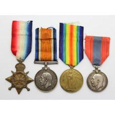 WW1 1914-15 Star, British War Medal, Victory Medal & George V Imperial Service Medal Group of Four - L.Sto. T.H. Williams, Royal Navy