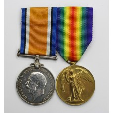 WW1 British War & Victory Medal Pair - Pte. W. Starrs, Tank C