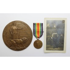 WW1 Victory Medal and Memorial Plaque (Death Penny) - Pte. T. Turner, 11th Bn. Middlesex Regiment - K.I.A.