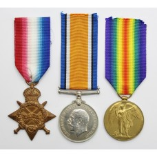 WW1 1914-15 Star Medal Trio - Gnr. G. Lill, Royal Artillery