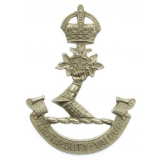 Royal Military College Canada (Truth Duty Valour) Cap Badge - King's Crown
