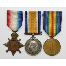 WW1 1914-15 Star Medal Trio - Pte. R. Russell, Essex Regiment