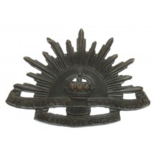 Australian Commonwealth Military Forces Slouch Hat Badge - King's Crown