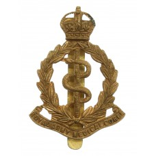Royal Army Medical Corps (R.A.M.C.) Brass Cap Badge - King's Crow