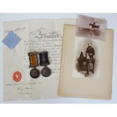 WW1 British War Medal & General Service Medal (Clasp - Iraq) - Riding Master & Major A.E.V. Huxtable, 7th Dragoon Guards