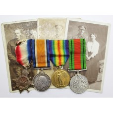 WW1 1914-15 Star Medal Trio and WW2 Defence Medal - Dvr. S. Daniels, Royal Engineers
