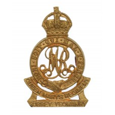 Surrey Yeomanry (Queen Mary's Regiment) Cap Badge - King's Crown