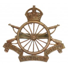 Army Cyclist Corps Officer's Service Dress Cap Badge - King's Cro