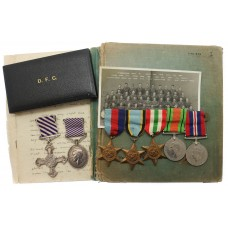 WW2 D.F.C., D.F.M. Medal Group with Log Books & Photographs - Flt.Lt. W.K. Dunn, 115 & 40 Sqdn. Royal Air Force
