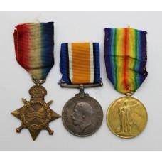 WW1 1914-15 Star Medal Trio - Pte. G. Montgomery, 1st/4th Bn. Kin