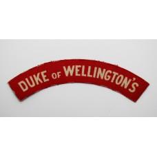 West Riding Regiment (DUKE OF WELLINGTON'S) WW2 Printed Shoulder Title