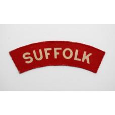 Suffolk Regiment (SUFFOLK) WW2 Printed Shoulder Title