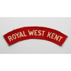 Royal West Kent Regiment (ROYAL WEST KENT) WW2 Printed Shoulder T