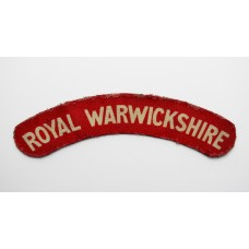 Royal Warwickshire Regiment (ROYAL WARWICKSHIRE) WW2 Printed Shou